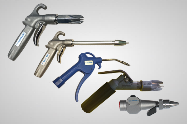 Various models of the Air Edger™ Flat Jet Nozzles against a grey background