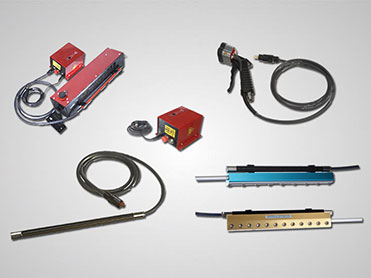 HAUG static control products from Nex Flow™ featuring an Ion Air Blower, Ion Air Knives, Ionizing Air Gun, Power Supply, and a Static Meter