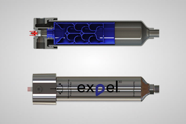 An image of an expel filter from both sides