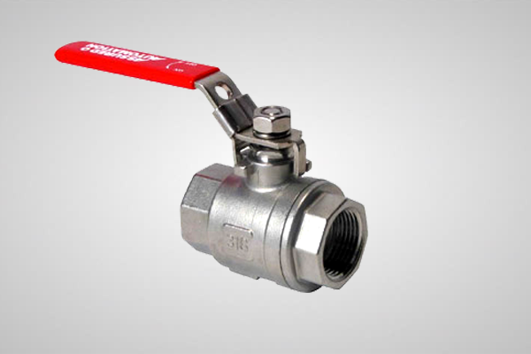 An image of a manual valve against a grey background