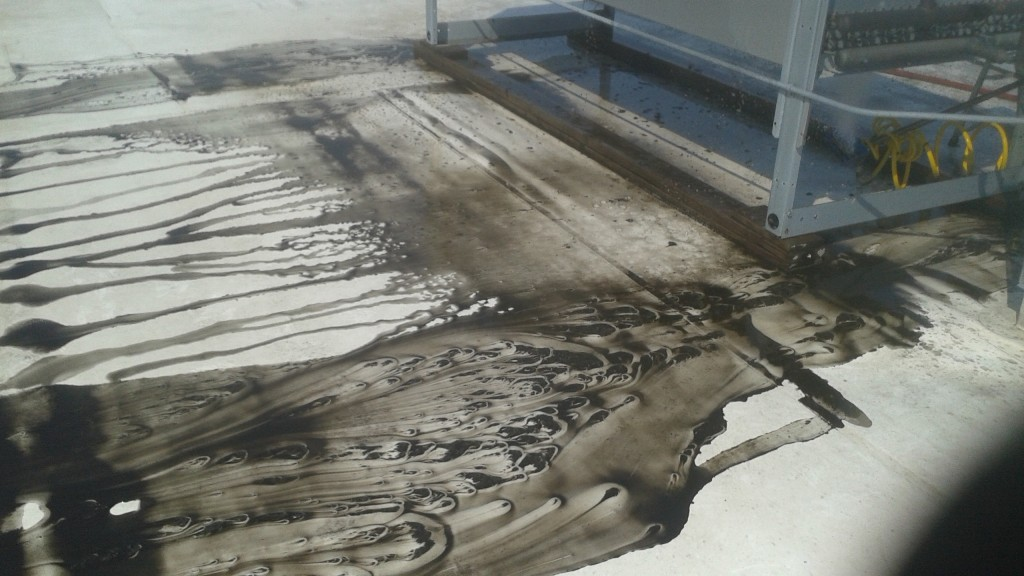 Dirt and residue from HVAC
